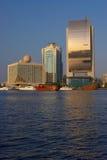 Vue sur le quai de Dubaï Photo libre de droits