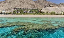 Vue sur le récif coralien près d'Eilat, Israël Images libres de droits