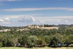 Vue sur le saint-André de fort dans des les Avignon de Villeneuve Photographie stock libre de droits