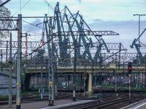 Vue sur le terminal de chemin de fer wny de ³ du 'Ã de Danzig GÅ images libres de droits