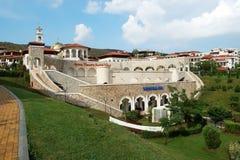 Vue sur le village de Vlas de saint en Bulgarie Images stock