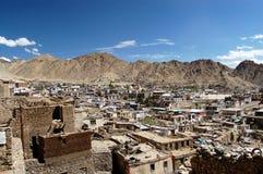 Vue sur Leh (Ladakh) Images stock
