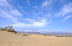 Vue sur les dunes de Maspalomas sur mamie Canaria, Espagne Image libre de droits