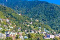 Vue sur Montreux Image libre de droits