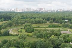 Vue sur Moscou du sud-ouest Photo stock