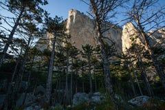 Vue sur Mt Shaan-Kaya images libres de droits