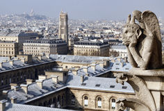 Vue sur Paris central Image stock