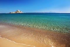 Vue sur peu d'île Kastri près de Kos Photographie stock libre de droits