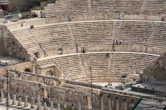 Vue sur Roman Theater antique situé dans la capitale de la Jordanie, Photographie stock