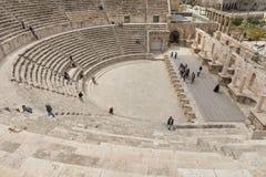 Vue sur Roman Theater antique situé dans la capitale de la Jordanie, Photo stock