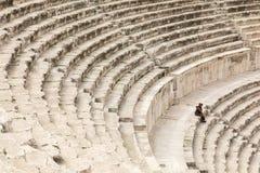 Vue sur Roman Theater antique situé dans la capitale de la Jordanie, Image stock