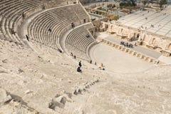 Vue sur Roman Theater antique situé dans la capitale de la Jordanie, Image libre de droits