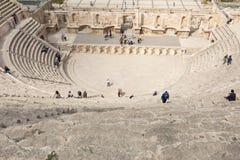 Vue sur Roman Theater antique situé dans la capitale de la Jordanie, Photos libres de droits