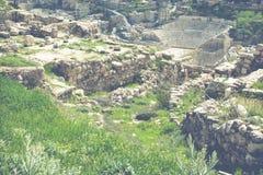 Vue sur Roman Theater antique situé dans la capitale de la Jordanie, Photo libre de droits