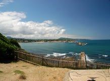 Vue sur Saint-Jean-De Luz et Ciboure Image libre de droits