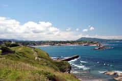 Vue sur Saint-Jean-De Luz et Ciboure Photographie stock