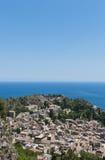 Vue sur Taormina image libre de droits