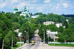 Vue sur Tchernigov et cathédrale de supposition Image libre de droits