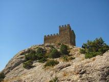 Vue sur une partie de forteresse de Gênes sur le dessus Photo libre de droits
