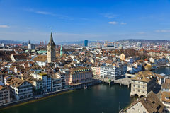 Vue sur Zurich photo stock