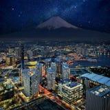 Vue surréaliste de ville de Yokohama Photographie stock