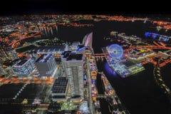 Vue surréaliste de ville de Yokohama Photographie stock libre de droits