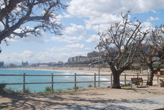 Vue Tarragone de plage Images stock