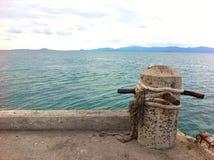 vue Thaïlande de mer de port Photographie stock