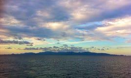 vue Thaïlande de mer de port Images stock