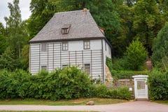 Vue Thuringe Allemagne de parc de jardin de Chambre de Weimar Goethe image libre de droits