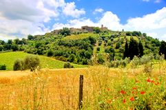 Vue toscane de campagne Photos stock