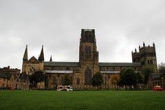 Vue totale au château à Durham, nord à l'est de l'Angleterre photographie stock