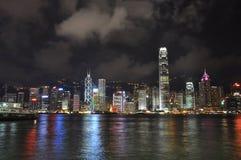 Vue toujours de nuit de Hong Kong Photos libres de droits