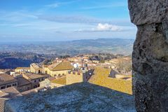 vue très gentille de volterra Photo stock