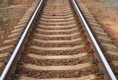 Vue ?troite de voie de chemin de fer images stock