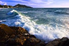 vue tropicale de mer de plage Image libre de droits