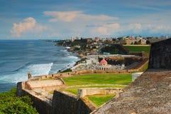 Vue tropicale de ville Images stock