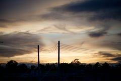 Vue trouble du ciel en mauvais jours photos stock