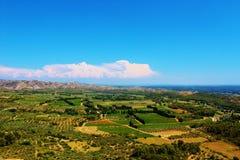 Vue typique au-dessus du Vaucluse, Provence, France Images libres de droits
