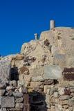 Vue typique de maçonnerie de Santorini, Grèce images stock