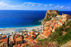 Vue typique de Scilla Photo stock