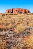 Vue Uluru Roche d'Ayers l'australie Image libre de droits