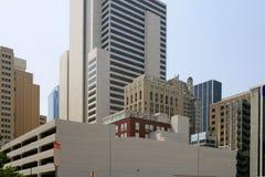 Vue urbaine de bulidings de ville du centre de Dallas image stock