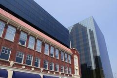 Vue urbaine de bulidings de ville du centre de Dallas photos libres de droits