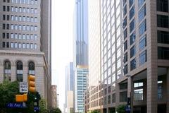 Vue urbaine de bulidings de ville du centre de Dallas photographie stock