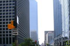Vue urbaine de bulidings de ville du centre de Dallas Images libres de droits
