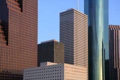 Vue urbaine de constructions du centre de gratte-ciel de ville photographie stock libre de droits