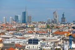Vue urbaine de Milan Photographie stock libre de droits