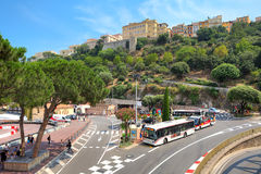 Vue urbaine de Monte Carlo, Monaco. Image libre de droits