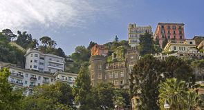 Vue urbaine de Naples Photo libre de droits